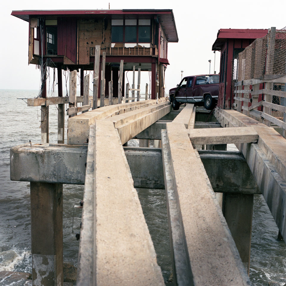 Stranded Truck On Pier